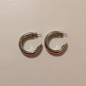 Silver Urban Outfitters Hoop Earrings